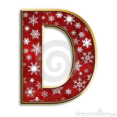 ��.d:-a:+�_ChristmasLetterDInRedRoyaltyFreeStockPhotos-Image:6138158