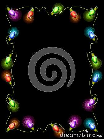 Free Christmas Light Border Stock Image - 615101