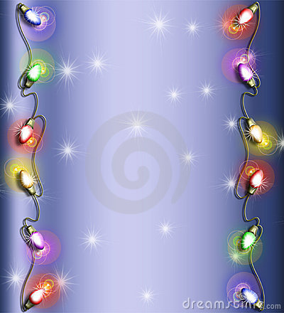 Christmas light frame