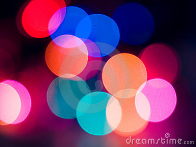 Christmas Lights Abstract