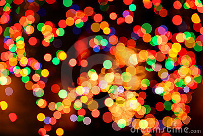 Christmas Lights Abstract Background