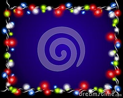 Christmas Lights Border Frame