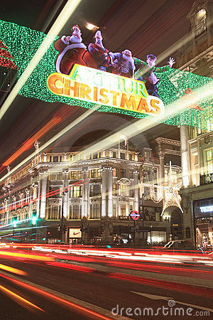 Christmas lights at Oxford Circus Editorial Stock Image