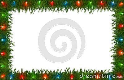 Christmas Lights with Pine Border