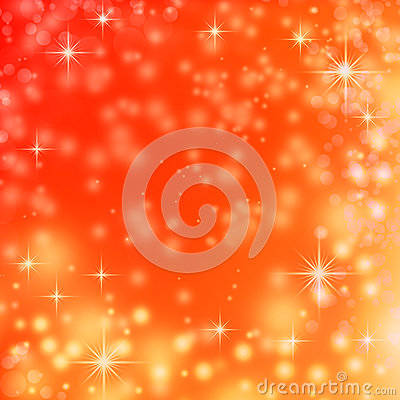 Christmas lights on red background snowflakes