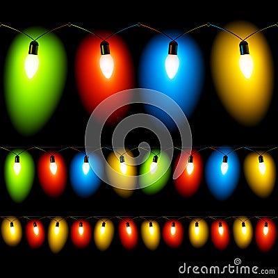 Christmas lights. Seamless illustration.