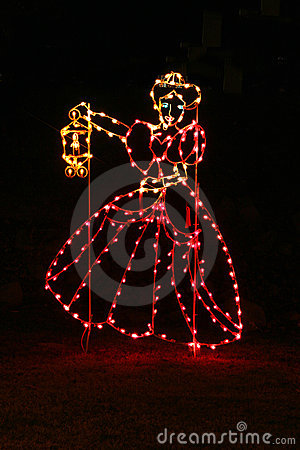 Christmas Lights Woman Royalty Free Stock Photography - Image: 368537