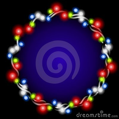 Free Christmas Lights Wreath Glow Royalty Free Stock Photos - 3598428