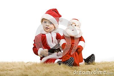 Christmas little baby boy