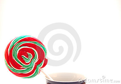 Christmas Lollipop in a Cup