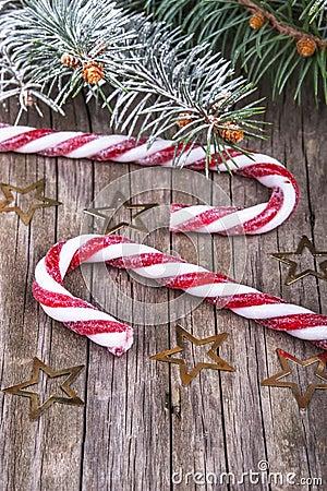 Christmas lollypop lollipop with festive decoration