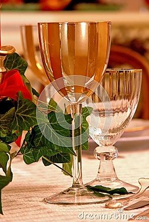 Christmas luxury glass