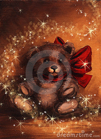 Christmas Magic Tedy Bear Present