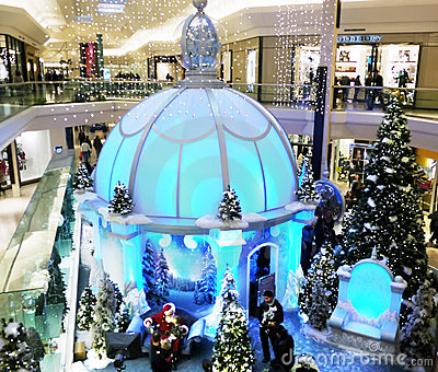 Christmas At The Mall. Editorial Photo