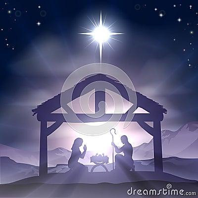 Free Christmas Manger Nativity Scene Royalty Free Stock Photography - 33479547