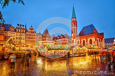 Christmas market in Frankfurt Editorial Stock Photo