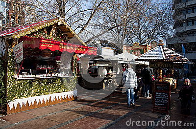 Christmas market in Germany, Pforzheim Editorial Stock Photo