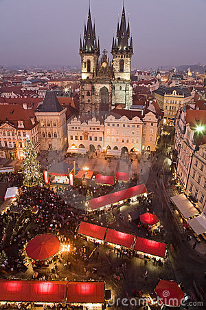 Free Christmas Market In Prague Stock Images - 7596864