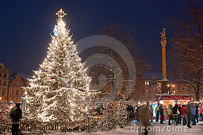Christmas Market in Litomerice, Czech Republic Editorial Photo