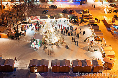 Christmas Market in Litomerice, Czech Republic Editorial Stock Photo