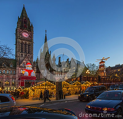 Christmas Market - Manchester - England Editorial Image