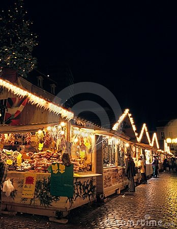 Christmas market at Metz Editorial Photography
