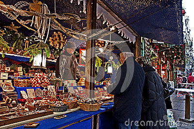 Christmas market in Munich, Germany Editorial Stock Photo