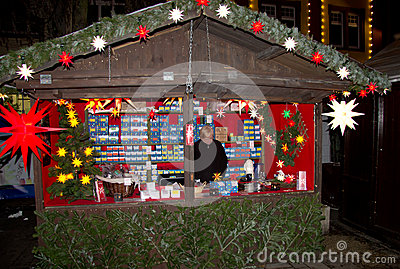 Christmas market in Offenburg, Germany Editorial Image