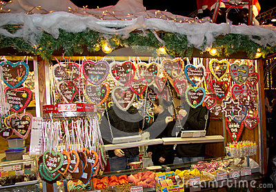 Christmas market in Offenburg, Germany Editorial Photo