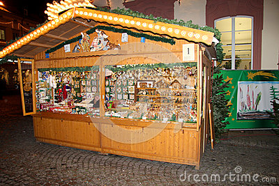 Christmas market in Offenburg, Germany Editorial Stock Photo