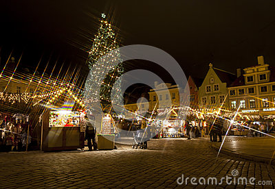 Christmas market in Tallinn Old Town
