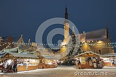 Christmas market in Tallinn, Estonia