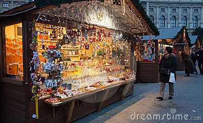 Christmas market in Vienna, Austria Editorial Photography