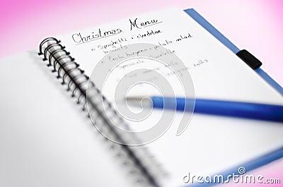 Christmas Menu Card