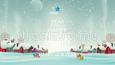 Christmas. Merry Christmas Tree snow animation royalty free illustration