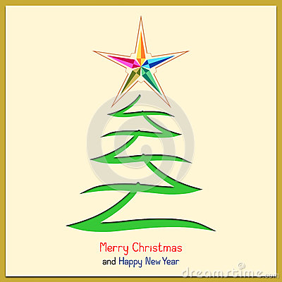 Christmas Message with Tree