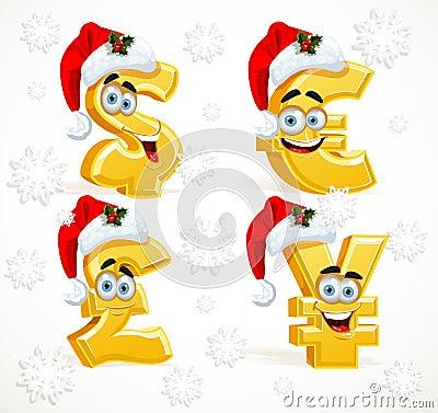 Christmas Monetary signs smiles