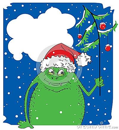 Free Christmas Monster Royalty Free Stock Photos - 11579548