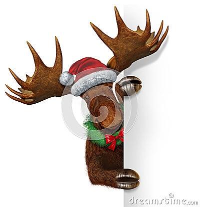 Christmas Moose Blank Sign