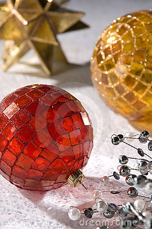 Free Christmas Mosaic Baubles Stock Photography - 9547762