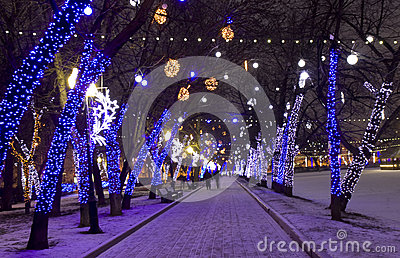 Christmas Moscow Editorial Stock Photo