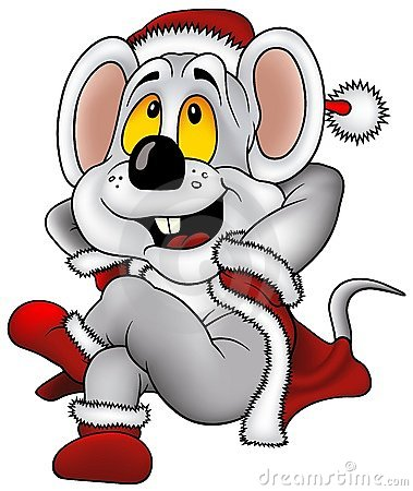 Free Christmas Mouse Royalty Free Stock Photography - 3265527