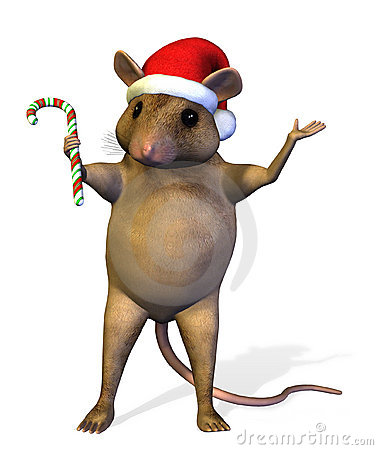 Christmas Mouse - includes clipping path