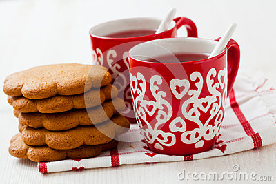 Christmas mulled wine and gingerbread