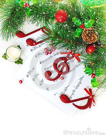 Free Christmas Musical Border Stock Images - 28194694