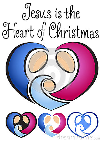 Free Christmas Nativity Heart/eps Stock Photo - 26984300