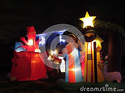 Christmas Nativity at Night