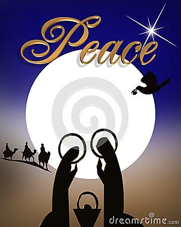 Free Christmas Nativity Religious Abstract  Royalty Free Stock Photo - 7078995