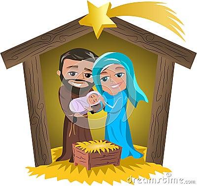 Free Christmas Nativity Scene Royalty Free Stock Image - 35120006
