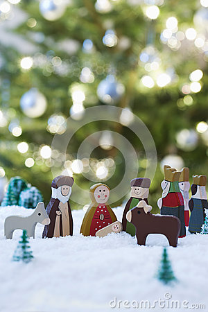 Christmas Nativity Scene Of Jesus Birth